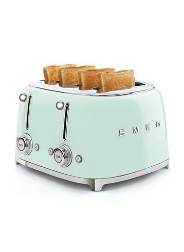Smeg Pastel Yeşil 1x4 Ekmek Kızartma Makinesi Yeşil